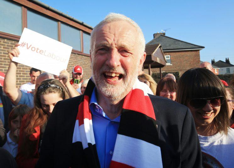 Labour leader Jeremy Corbyn on the general election campaign trail in Rotherham. (PA)