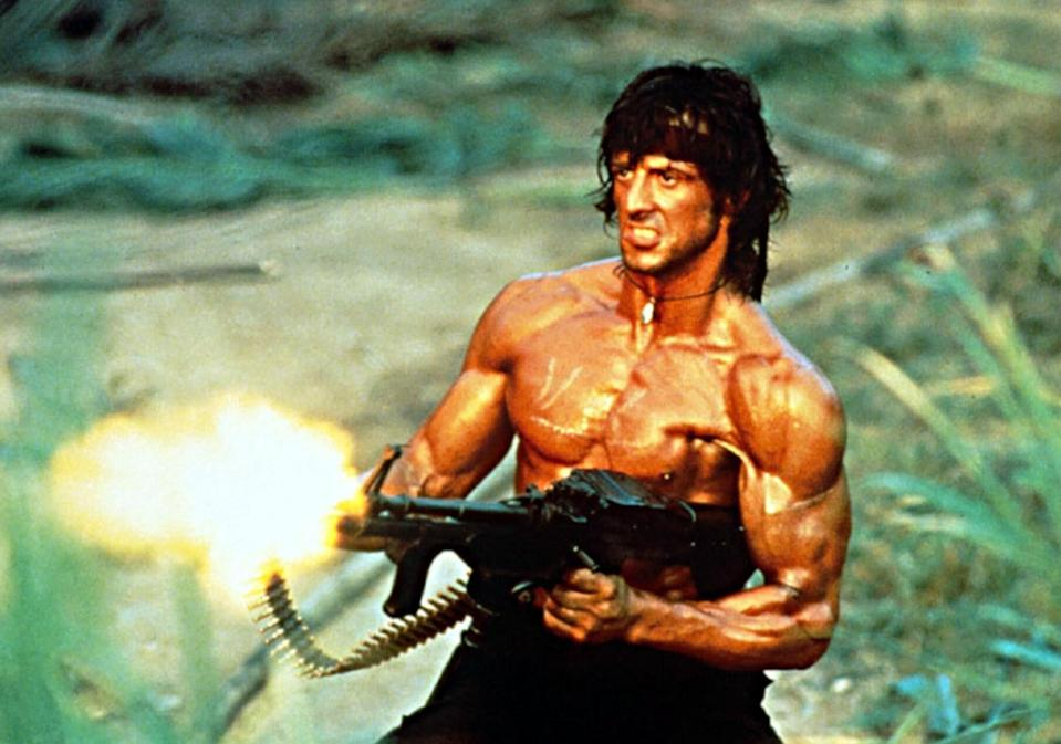 Sylvester Stallone in 1985's 'Rambo: First Blood Part II' (credit: Studiocanal)