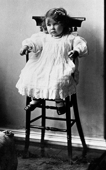 The Queen Mother aged two at Glamis House - Credit: Hulton Deutsch
