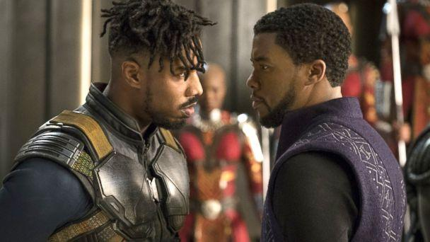 PHOTO: Michael B. Jordan and Chadwick Boseman in 'Black Panther,' 2018. (IMDB)