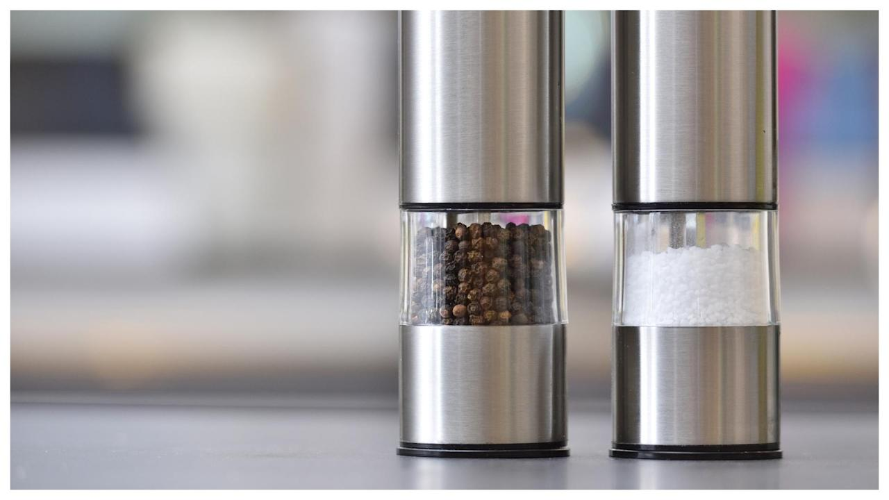 These Chic Stainless Steel Salt & Pepper Grinder Sets Will Add Style to Your Table