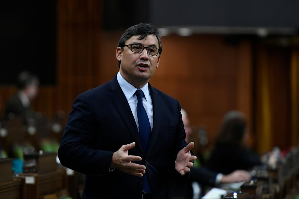 Conservative MP Michael Chong rises in the House of Commons on  Dec. 10, 2020. (Photo: Justin Tang/CP)