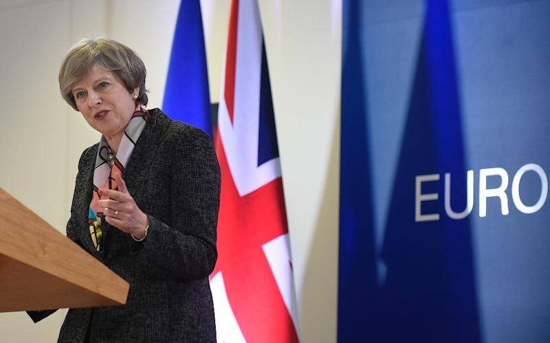 The Brexit bill could win final approval by both Houses of Parliament by Monday evening -- leaving Theresa May's path clear to trigger Brexit whenever she wants (AFP Photo/John THYS)