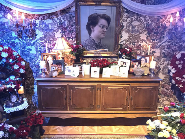 <p>Barb (Shannon Purser) didn't survive the first season of <i>Stranger Things</i> (and, sadly, she won't be seen in Season 2), but the shrine to her memory shows just how much she was loved. RIP.<br><br>(Photo: Giana Mucci/Yahoo) </p>