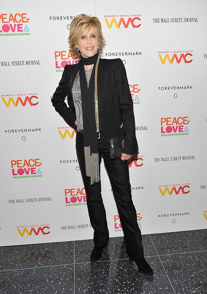 Jane Fonda attends the 'Peace, Love And Misunderstanding' New York Screening at the Museum of Modern Art on June 4, 2012 in New York City.