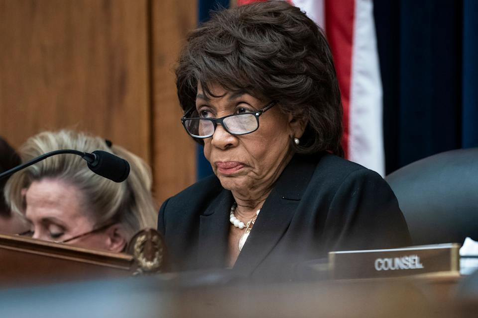 House Financial Services Committee Chair Maxine Waters, D-Calif., leads a hearing to review the Consumer Financial Protection Bureau's mission to focus priority on consumers with the CFPB Dir. Kathy Kraninger, on Capitol Hill in Washington, Thursday, March 7, 2019. (AP Photo/J. Scott Applewhite)