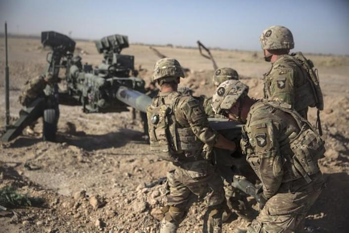 """If Russia offered bounties to the Taliban for attacking U.S. forces and their allies in Afghanistan, why hasn't President Trump taken public and decisive action? <span class=""""copyright"""">(Sgt. Justin Updegraff/ U.S. Marine Corps via Associated Press)</span>"""