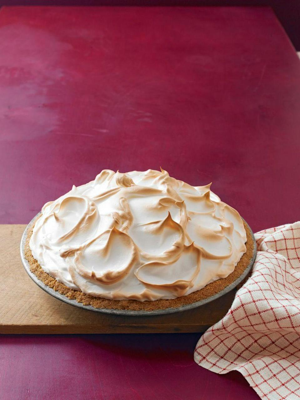 "<p>The nutty notes and butterscotch flavor in this meringue pie are sure to send guests into a sweet, sweet food coma. </p><p><a href=""https://www.womansday.com/food-recipes/food-drinks/recipes/a12082/browned-butter-butterscotch-meringue-pie-recipe-wdy1112/"" rel=""nofollow noopener"" target=""_blank"" data-ylk=""slk:Get the Browned Butter Butterscotch Meringue Pie recipe."" class=""link rapid-noclick-resp""><strong><em>Get the Browned Butter Butterscotch Meringue Pie recipe. </em></strong> </a></p><p><strong><strong>What You'll Need</strong></strong><strong><strong>:</strong></strong> <a href=""https://www.amazon.com/USA-Pan-Patriot-Bakeware-Aluminized/dp/B019ZDZIT0"" rel=""nofollow noopener"" target=""_blank"" data-ylk=""slk:Pie Pan"" class=""link rapid-noclick-resp"">Pie Pan </a>($25, Amazon)</p>"