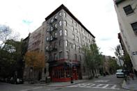 <p>The classic NYC show was mostly filmed on a set at Warner Brothers Studios in California, the exterior shots of their apartment building are of a real place in Greenwich Village in New York. While there is a little cafe below the apartment, it's unfortunately NOT named Central Perk. </p><p>90 Bedford St, New York, NY 10014</p>