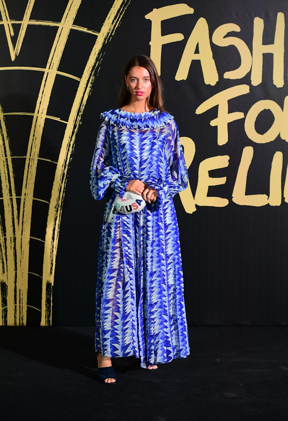 Iris Law arriving on the red carpet for Naomi Campbell's Fashion For Relief Gala during London Fashion Week. [Photo: PA]