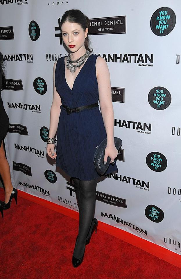 "Michelle Trachtenberg, better known to ""Gossip Girl"" fans as Georgina, dared to try the trendy new color combination of <a href=""http://omg.yahoo.com/blogs/a-line/fashion-rules-made-to-be-broken/340"">navy and black</a>. Do you think she pulled it off? Jamie McCarthy/<a href=""http://www.wireimage.com"" target=""new"">WireImage.com</a> - January 12, 2010"