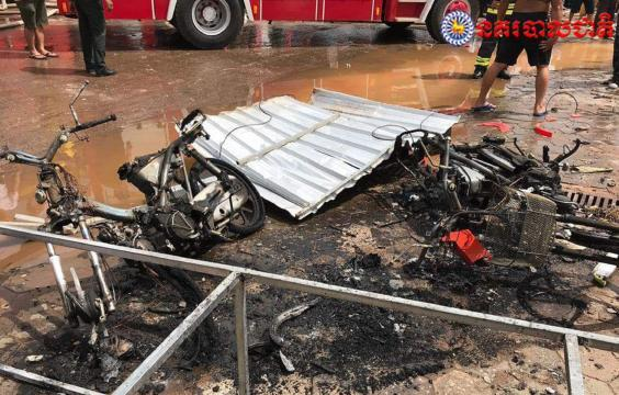 British teacher Zoe Eleftheriou and American Abigail Alexander were seriously injured in an explosion at a petrol station in Siem Reap, Cambodia, on 14 August 2019. (Cambodia Police)