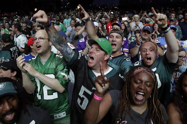 Eagles fans made the 2017 draft entertaining. (AP)