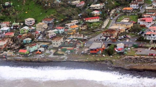 PHOTO: Damaged homes from Hurricane Maria are shown in this aerial photo over the island of Dominica, Sept.19, 2017. (Reuters)