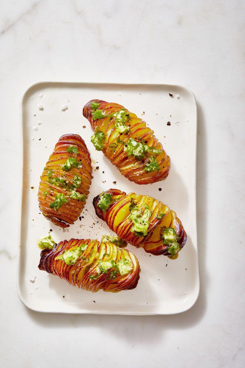"""<p>If there's any go-to snack more perfect for Game Day, it's these hasselback potatoes — they're crispy, buttery, and loaded with all the cheesy goodness you'd want in a potato dish. </p><p><em><a href=""""https://www.goodhousekeeping.com/food-recipes/a29686876/totchos-recipe/"""" rel=""""nofollow noopener"""" target=""""_blank"""" data-ylk=""""slk:Get the recipe for Hasselback Potatoes »"""" class=""""link rapid-noclick-resp"""">Get the recipe for Hasselback Potatoes »</a></em></p><p><strong><strong>RELATED:</strong> </strong><a href=""""https://www.goodhousekeeping.com/food-recipes/g1633/potato-recipes/"""" rel=""""nofollow noopener"""" target=""""_blank"""" data-ylk=""""slk:58 Easy Potato Recipes For Weeknight Dinners, Thanksgiving and More"""" class=""""link rapid-noclick-resp"""">58 Easy Potato Recipes For Weeknight Dinners, Thanksgiving and More</a><br></p>"""
