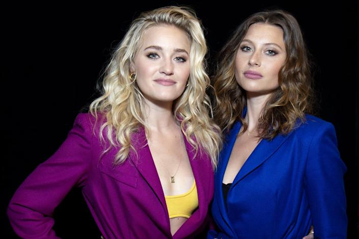 NEW YORK, NEW YORK - MAY 13:  Amanda and Alyson Michalka of 'Aly & AJ' visit Build Studio on May 13, 2019 in New York City. (Photo by Santiago Felipe/Getty Images)