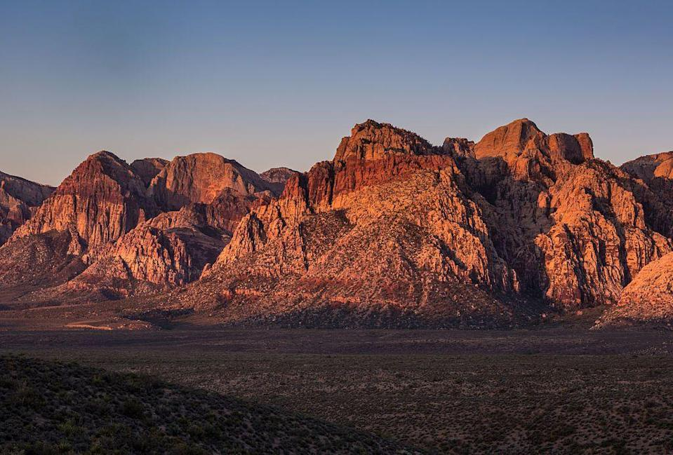 """<p>When you need a break from all that Las Vegas glitz, head out to the desert for some time in nature on the <a href=""""https://www.tripadvisor.com/Attraction_Review-g45963-d8010546-Reviews-Calico_Tanks_Trail-Las_Vegas_Nevada.html"""" rel=""""nofollow noopener"""" target=""""_blank"""" data-ylk=""""slk:Calico Tanks Trail"""" class=""""link rapid-noclick-resp"""">Calico Tanks Trail</a> in Red Rock Canyon. You'll be dazzled by the bright-red rock formations and desert vegetation.</p><p><br><a class=""""link rapid-noclick-resp"""" href=""""https://go.redirectingat.com?id=74968X1596630&url=https%3A%2F%2Fwww.tripadvisor.com%2FAttraction_Review-g45963-d8010546-Reviews-Calico_Tanks_Trail-Las_Vegas_Nevada.html&sref=https%3A%2F%2Fwww.countryliving.com%2Flife%2Ftravel%2Fg24487731%2Fbest-hikes-in-the-us%2F"""" rel=""""nofollow noopener"""" target=""""_blank"""" data-ylk=""""slk:PLAN YOUR HIKE"""">PLAN YOUR HIKE</a></p>"""