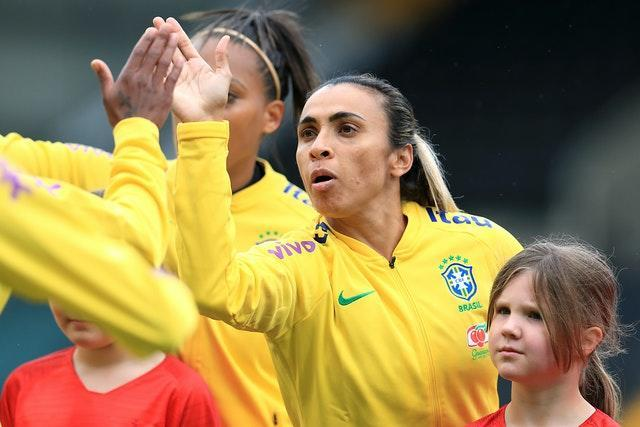 Brazil's Marta has scored a record 17 Women's World Cup goals (Mike Egerton/PA).