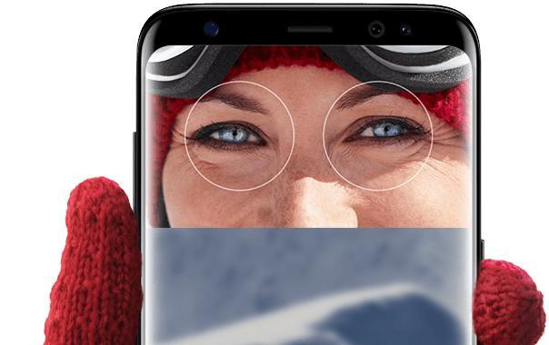 Unlocking the phone with your irises is awkward, but handy when you have gloves on.