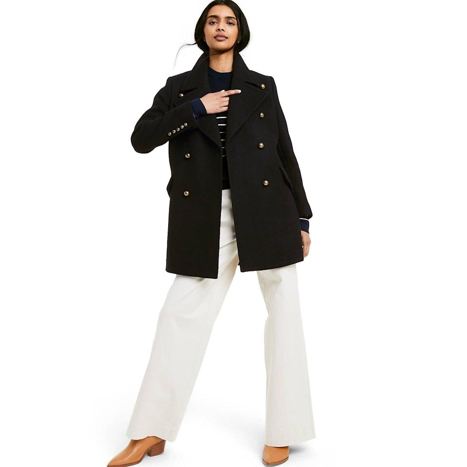 <p>This <span>Nili Lotan x Target Double Breasted Coat</span> ($70) is so classic. It's one you'll buy now and wear for seasons to come.</p>