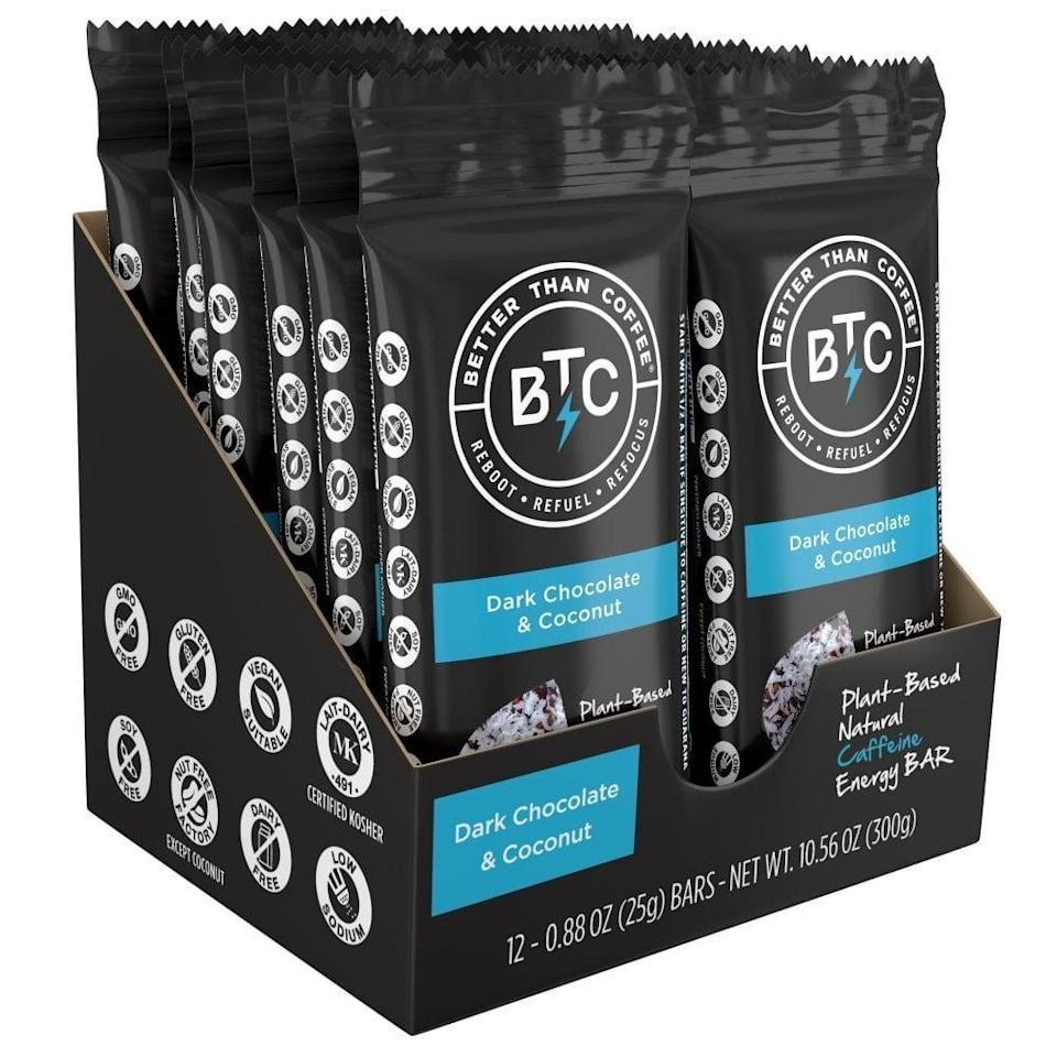 <p>You can start off your day right with these energizing <span> Better Than Coffee Energy Bars</span> ($24 for 12).</p>