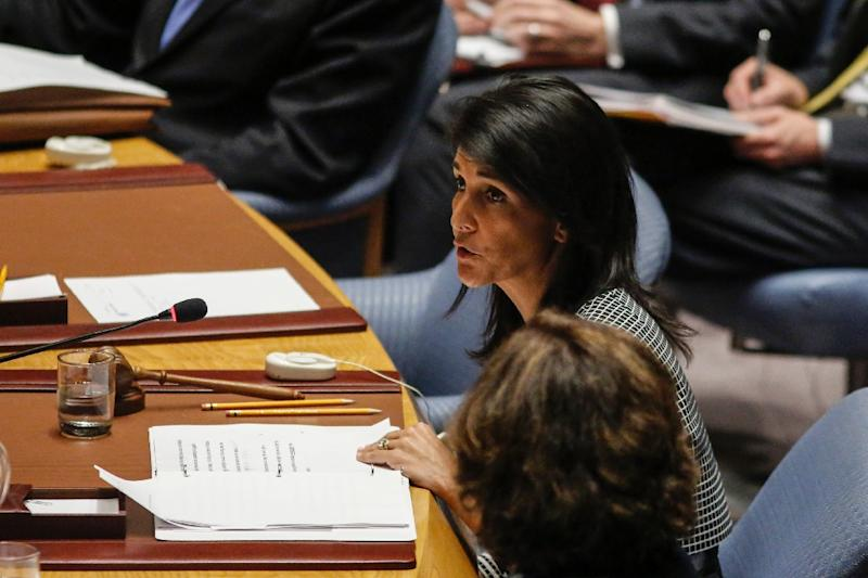 """""""The next international crisis could very well come from places where human rights are widely disregarded. Perhaps it will be North Korea or Iran or Cuba,"""" said US Ambassador to the UN Nikki Haley"""