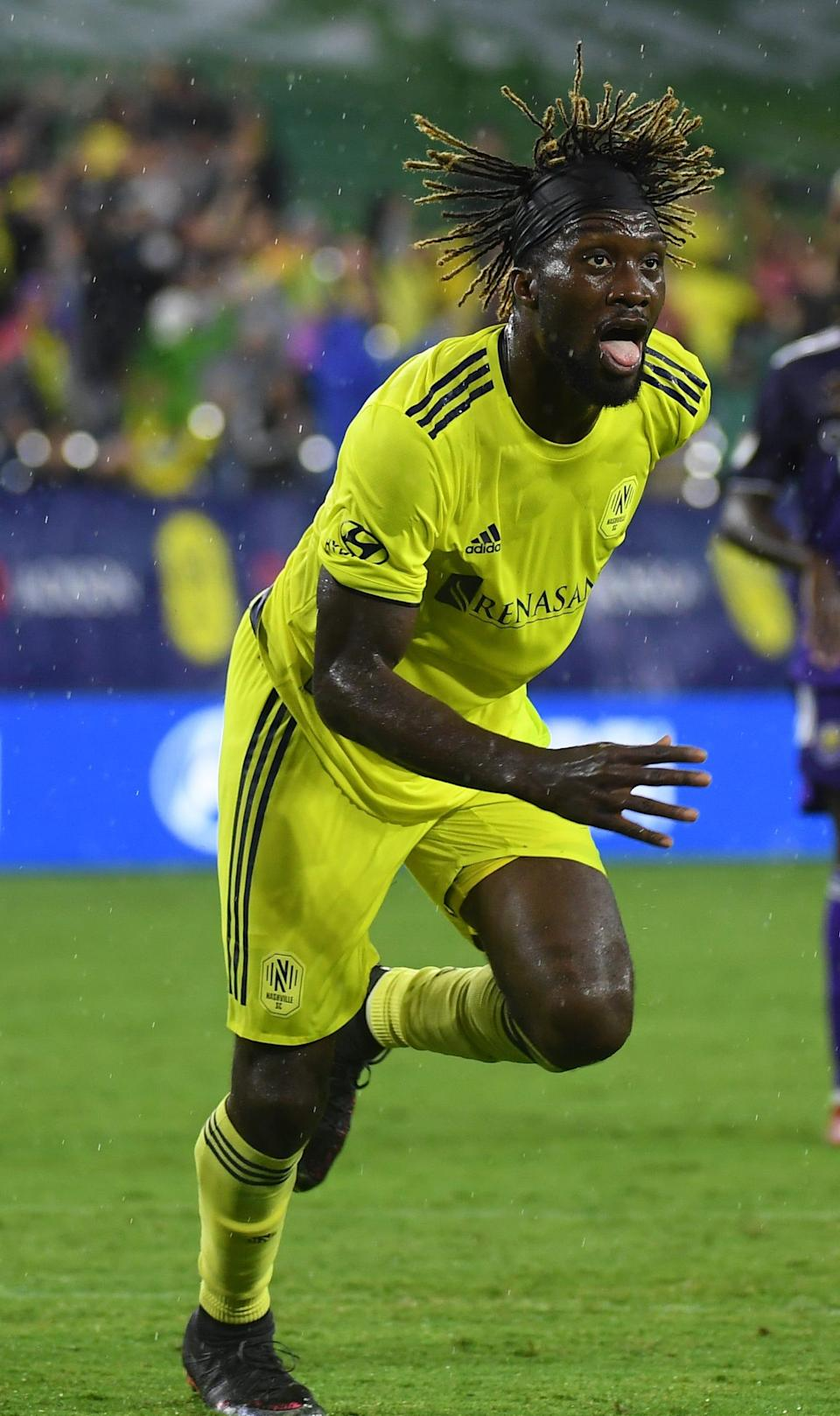 CJ Sapong's recent run of scoring goals has kept Nashville SC in the thick of the Eastern Conference playoff race.