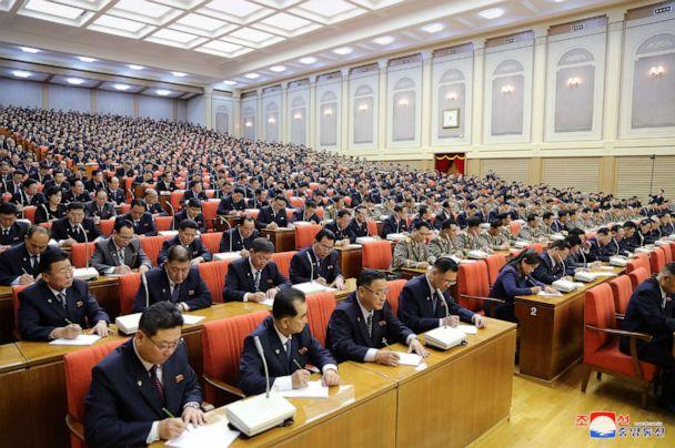 PHOTO: Attendees are seen during the 5th Plenary Meeting of the 7th Central Committee of the Workers' Party of Korea (WPK) in this photo released on Dec. 29, 2019 by North Korean Central News Agency (KCNA). (KCNA via Reuters)