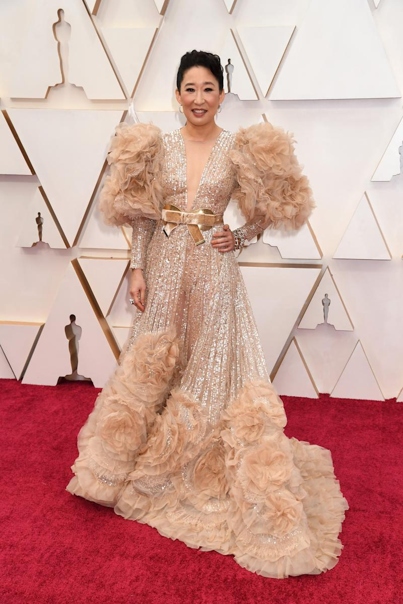 HOLLYWOOD, CALIFORNIA - FEBRUARY 09: Sandra Oh attends the 92nd Annual Academy Awards at Hollywood and Highland on February 09, 2020 in Hollywood, California. (Photo by Jeff Kravitz/FilmMagic)