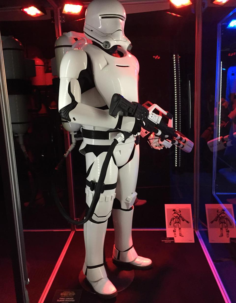 """<p>From the official description: """"Specialized Stormtroopers of the First Order, Flametroopers carry incendiary weapons that can transform any battlefield into an infernal blaze.""""</p>"""