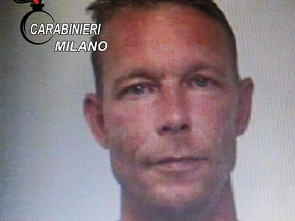 Handout picture taken in 2018 shows German Christian Brueckner when he was arrested for drug trafficking in Italy: Italian Carabinieri
