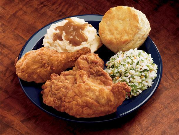 """<div class=""""caption-credit""""> Photo by: Photo: KFC Corporation</div><b>3. KFC Original Recipe Fried Chicken</b> <br> In 1976, white-bearded, bespectacled Colonel Harland Sanders ranked as the second most-recognizable celebrity behind then heavyweight champion Muhammad Ali. While the company has changed its name from Kentucky Fried Chicken to KFC, the Colonel's secret recipe (involving 11 herbs and spices) has remained the same, ensuring fast-food aficionados keep coming back for those giant red buckets of fried chicken served at more than 17,000 locations worldwide. <br> <b>More from Gourmet:</b> <br> <b><a href=""""http://www.gourmet.com/recipes/menus/2008/08/burger-slideshow?mbid=synd_yshine"""" rel=""""nofollow noopener"""" target=""""_blank"""" data-ylk=""""slk:Gourmet's 12 Best Burgers of All Time"""" class=""""link rapid-noclick-resp"""">Gourmet's 12 Best Burgers of All Time</a> <br></b> <b><a href=""""http://www.gourmet.com/recipes/2000s/2009/03/sandwiches-of-the-world-slideshow#slide=1?mbid=synd_yshine"""" rel=""""nofollow noopener"""" target=""""_blank"""" data-ylk=""""slk:The Best Sandwiches Around the World"""" class=""""link rapid-noclick-resp"""">The Best Sandwiches Around the World</a> <br></b>"""