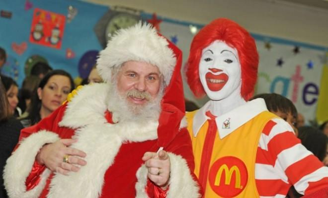 Company-operated McDonald's restaurants that remained open last Christmas day averaged around $5,500 in sales.