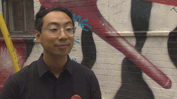 Kevin Vuong, who is running in the Toronto riding of Spadina-Fort York, is no longer running under the Liberal banner and won't sit with them if elected, the party said Saturday. (CBC - image credit)