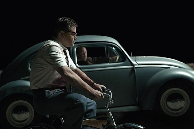 """<p>As director <a href=""""https://www.yahoo.com/movies/tagged/george-clooney"""" data-ylk=""""slk:George Clooney"""" class=""""link rapid-noclick-resp"""">George Clooney</a> tells it, <em>Suburbicon</em> is """"a lot angrier"""" than the way <a href=""""https://www.yahoo.com/movies/tagged/coen-brothers"""" data-ylk=""""slk:Joel and Ethan Coen"""" class=""""link rapid-noclick-resp"""">Joel and Ethan Coen</a> conceived it two decades ago. <a href=""""https://www.yahoo.com/movies/tagged/matt-damon"""" data-ylk=""""slk:Matt Damon"""" class=""""link rapid-noclick-resp"""">Matt Damon</a>, <a href=""""https://www.yahoo.com/movies/tagged/julianne-moore"""" data-ylk=""""slk:Julianne Moore"""" class=""""link rapid-noclick-resp"""">Julianne Moore</a>, and <a href=""""https://www.yahoo.com/movies/tagged/oscar-isaac"""" data-ylk=""""slk:Oscar Isaac"""" class=""""link rapid-noclick-resp"""">Oscar Isaac</a> star as suburbanites whose lives go kablooey. 