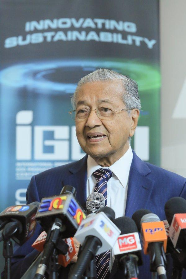 Tun Dr. Mahathir Mohamad, the Prime Minister of Malaysia officiates IGEM 2019
