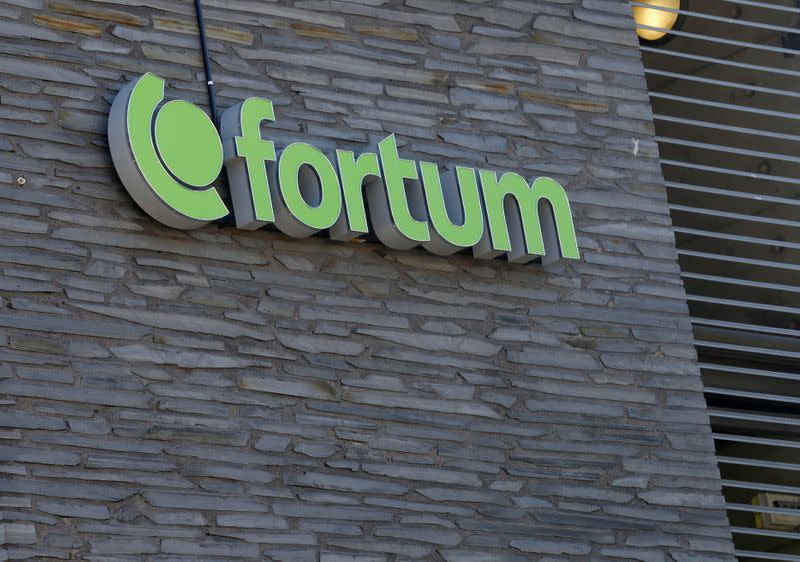 FILE PHOTO: Finnish energy company Fortum sign is seen at their headquarters in Espoo