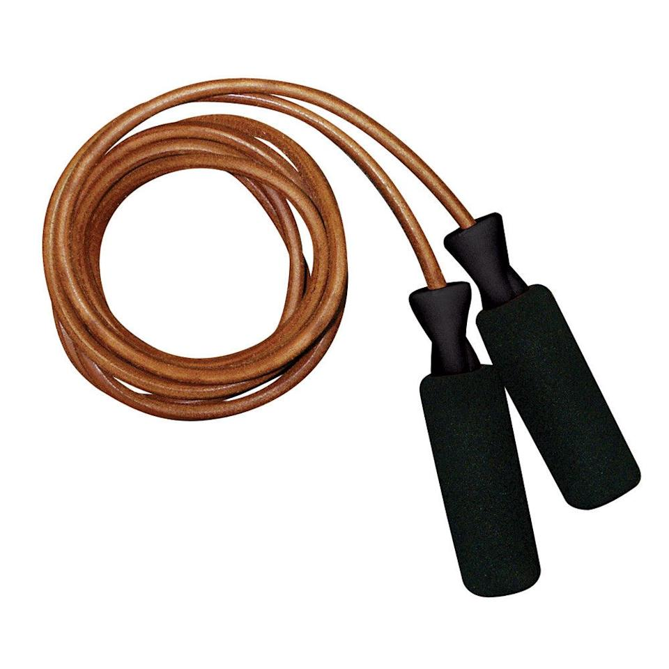 """<p>Kick up your cardio workouts with this leather speed rope.</p> <p><strong>Get it:</strong> $9 (originally $13), <a rel=""""nofollow"""" href=""""https://www.amazon.com/Contender-Fight-Sports-Leather-8-Feet/dp/B006CV4VGK/ref=redir_mobile_desktop?_encoding=UTF8&ref_=mh_s9_acsd_bw_wf_a_Function_cdi_5"""" rel=""""nofollow"""">amazon.com</a></p>"""