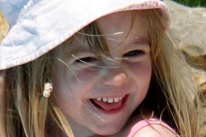 Madeleine McCann picture on a Portgual beach in the final days before she went missing