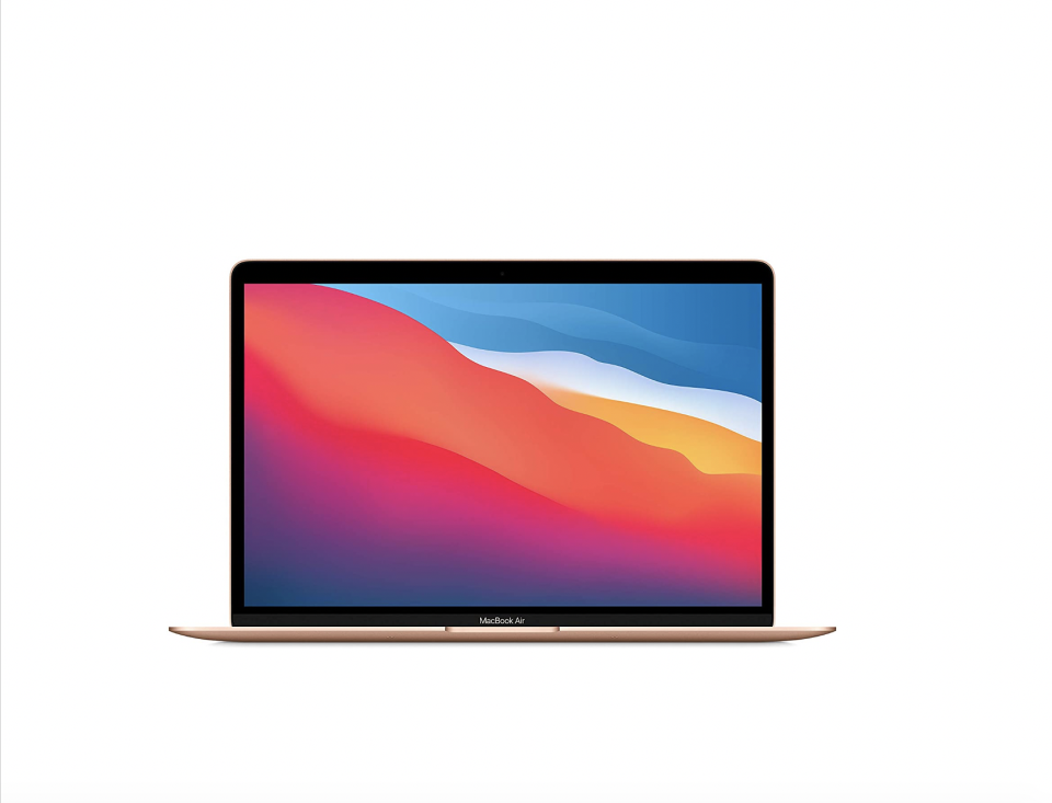 """<p><strong>Apple</strong></p><p>amazon.com</p><p><strong>$899.00</strong></p><p><a href=""""https://www.amazon.com/dp/B08N5M7S6K?tag=syn-yahoo-20&ascsubtag=%5Bartid%7C10049.g.37113047%5Bsrc%7Cyahoo-us"""" rel=""""nofollow noopener"""" target=""""_blank"""" data-ylk=""""slk:Shop Now"""" class=""""link rapid-noclick-resp"""">Shop Now</a></p><p>Buying one of these laptops is a splurge for sure, but its performance, display, and speed are unrivaled.</p>"""