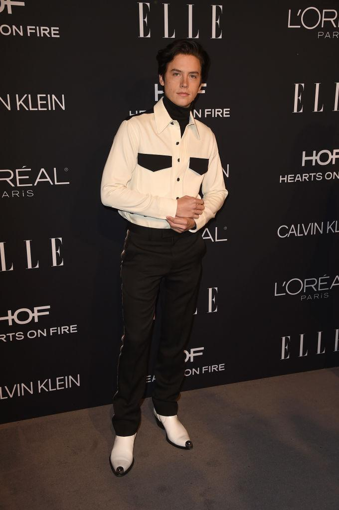 <p>Cole Sprouse is our ultimate muse this season, as the actor dressed in a western shirt by Calvin Klein for the star-studded event. Please note how cool his cowboy boots are. <em>[Photo: Getty]</em> </p>
