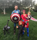 <p>Last year, Kourtney Kardashian joined ex Scott Disick for a Halloween spectacular with their children. And the former couple gained full marks for effort in co-ordinating superhero outfits. <em>[Photo: Instagram]</em> </p>