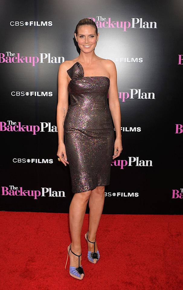 """<a href=""""http://movies.yahoo.com/movie/contributor/1804328244"""">Heidi Klum</a> at the Los Angeles premiere of <a href=""""http://movies.yahoo.com/movie/1810107558/info"""">The Back-up Plan</a> - 04/21/2010"""