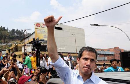 Venezuelan opposition leader Juan Guaido, who many nations have recognised as the country's rightful interim ruler, attends a rally in San Antonio, Venezuela, March 30, 2019. REUTERS/Manaure Quintero NO RESALES. NO ARCHIVES