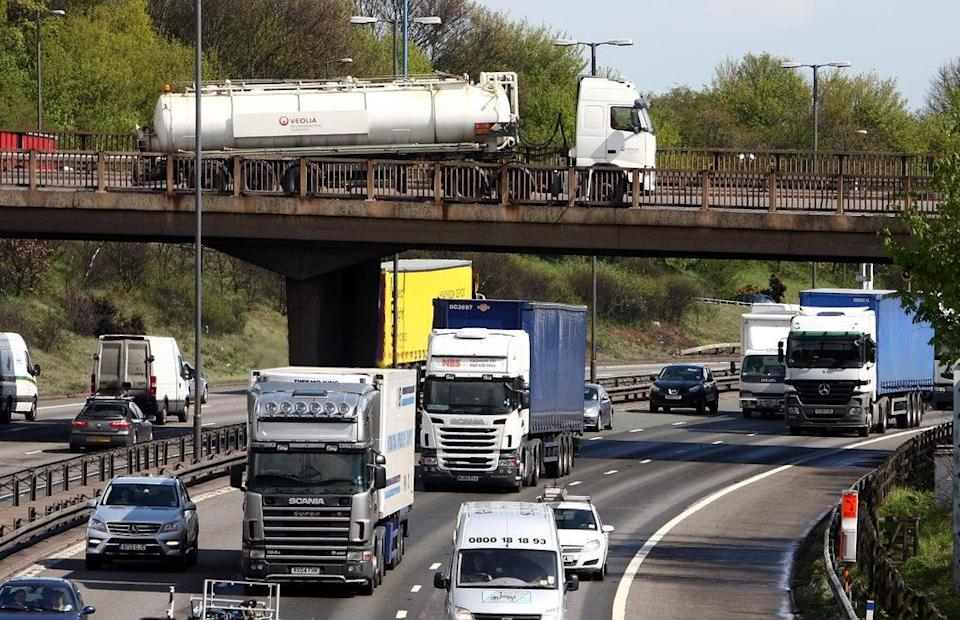 The DfT said up to 50,000 more HGV driving tests would be made available (PA) (PA Archive)