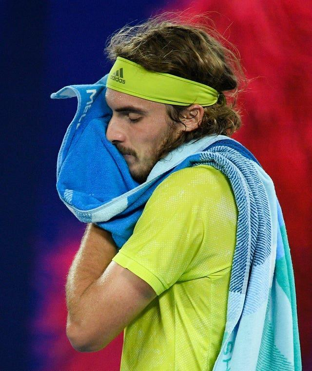 Stefanos Tsitsipas was unable to follow up his victory over Rafael Nadal