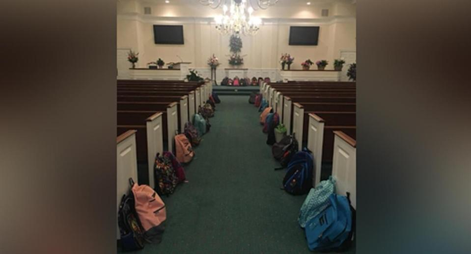 The teacher requested backpacks full of supplies for needy students at her funeral in lieu of flowers. (Photo: Brad Johnson via Twitter)