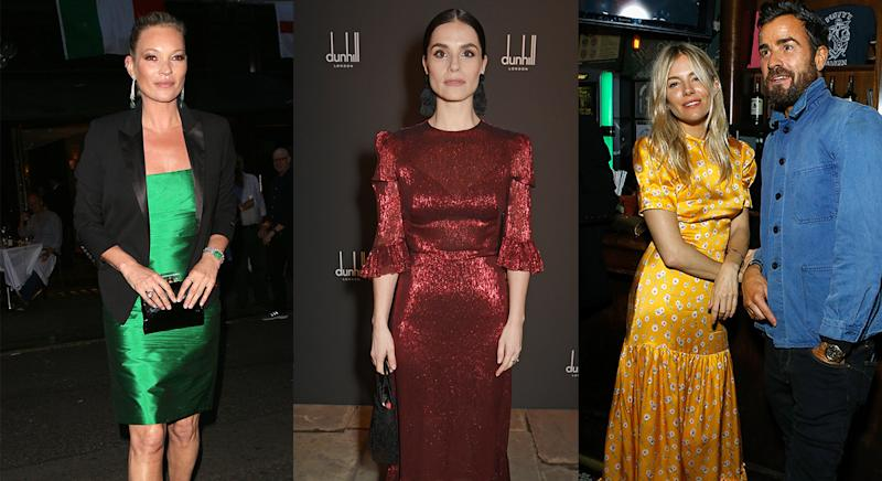 Kate Moss, Charlotte Riley and Sienna Miller have previously worn The Vampire's Wife dresses. (Getty)