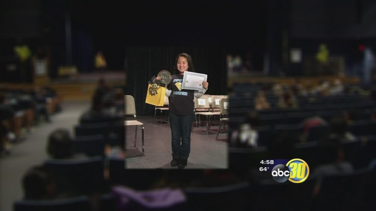 Close to 60 students were whittled down to just one at Tuesday's Fresno Unified Spelling Bee.