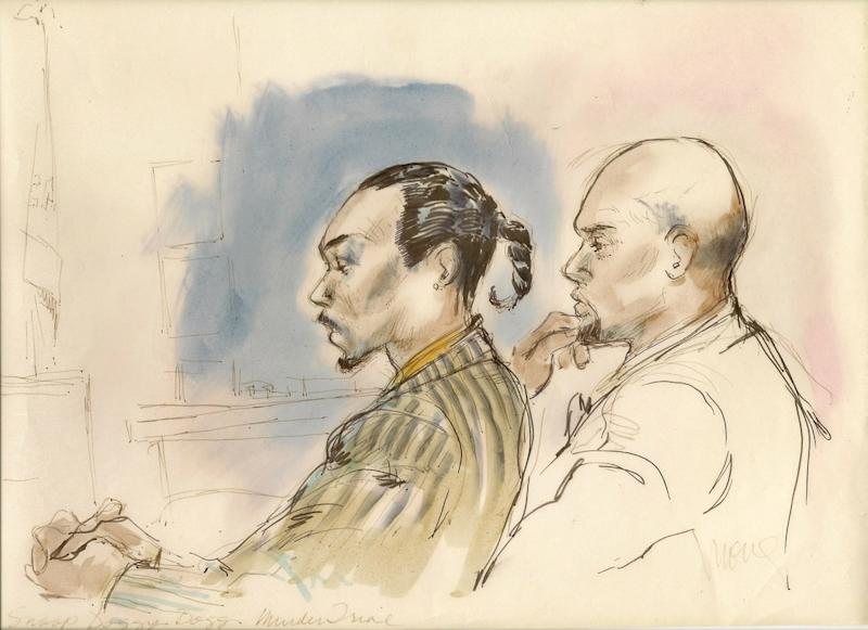 Like his newfound buddy, Martha Stewart, Snoop Dogg has also spent time in the courtroom, though back in 1996, when he was known as Snoop Doggy Dogg, it was hardly a laughing matter: Along with his bodyguard, he was charged—and ultimately acquitted—of murder, after the shooting death of a gang member, hence his uncharacteristically subdued demeanor.